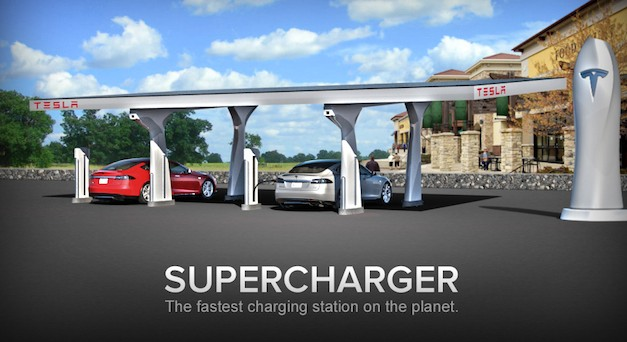 Tesla unveils Supercharger charging stations, over 100 locations coming by 2015