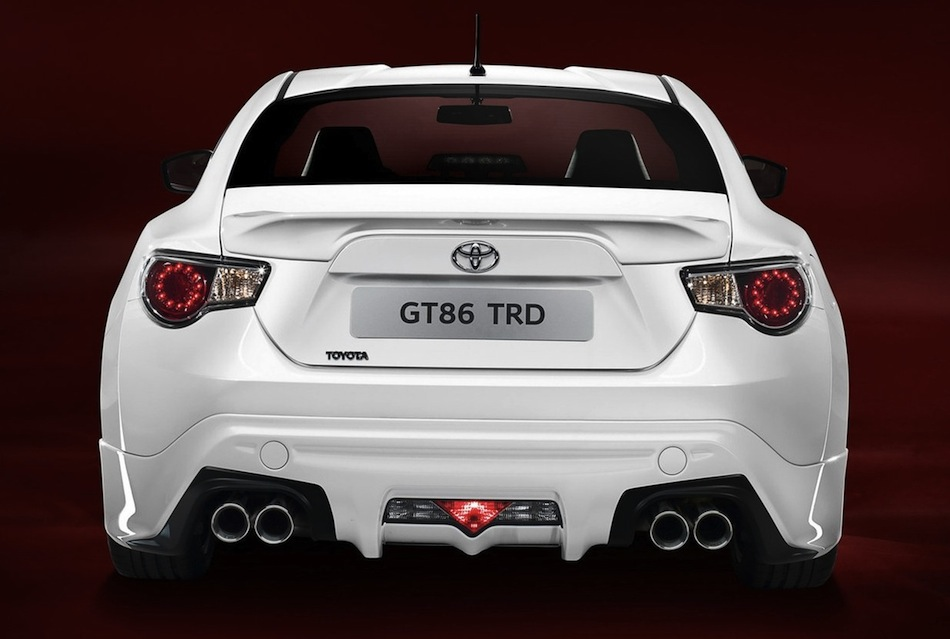 Trd Toyota Gt86 Performance Line Kit Rear View Egmcartech