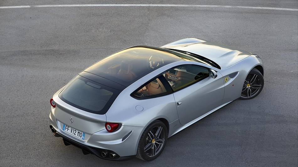 2013 Ferrari FF Panoramic Roof Rear 3-4 View