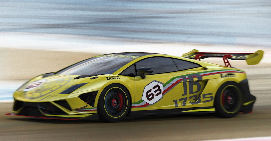 2013 Lamborghini Gallardo LP570-4 Super Trofeo Front 7/8 Action View