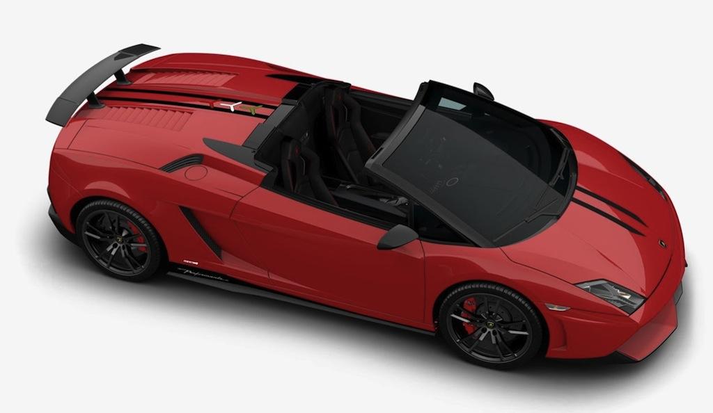 2013 Lamborghini Gallardo Spyder Front Side Top View Red