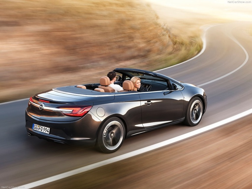 2013 Opel Cascada Rear 3/4 Action Angle