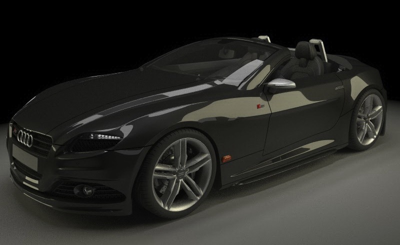 Audi RS Study Front Front 7/8 View