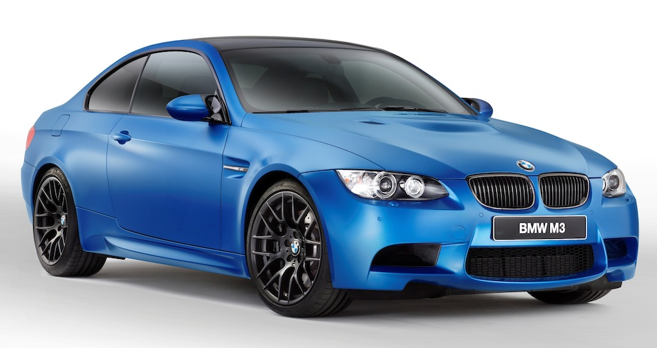 2013 BMW M3 Coupe Frozen Blue Front 7/8 View