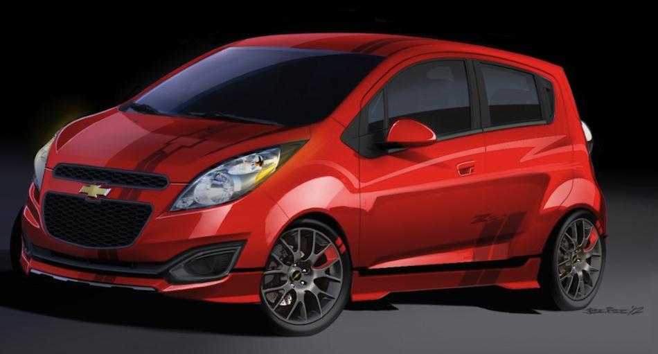 Chevrolet Spark Z Spec Concept Front  EgmCarTech