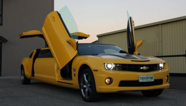 Chevrolet Camaro SS Transformers Special Edition Limo is how the Autobots roll in large groups