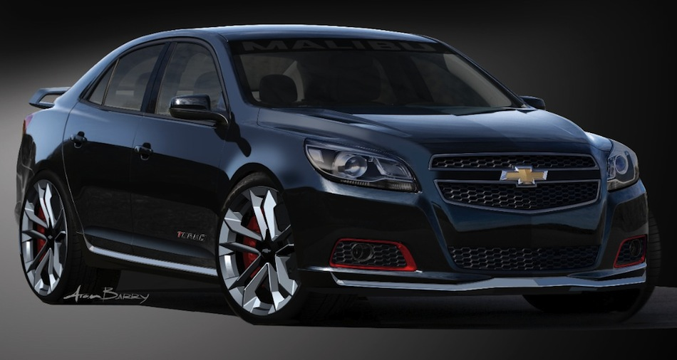 Chevrolet Malibu Turbo Performance Concept Front Sketch