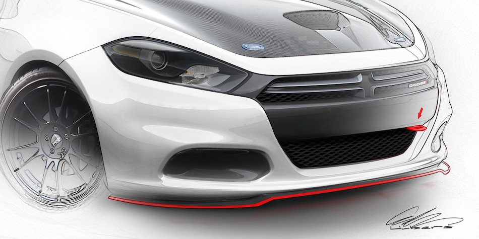 2012 SEMA Season Dodge Dart White Sketch