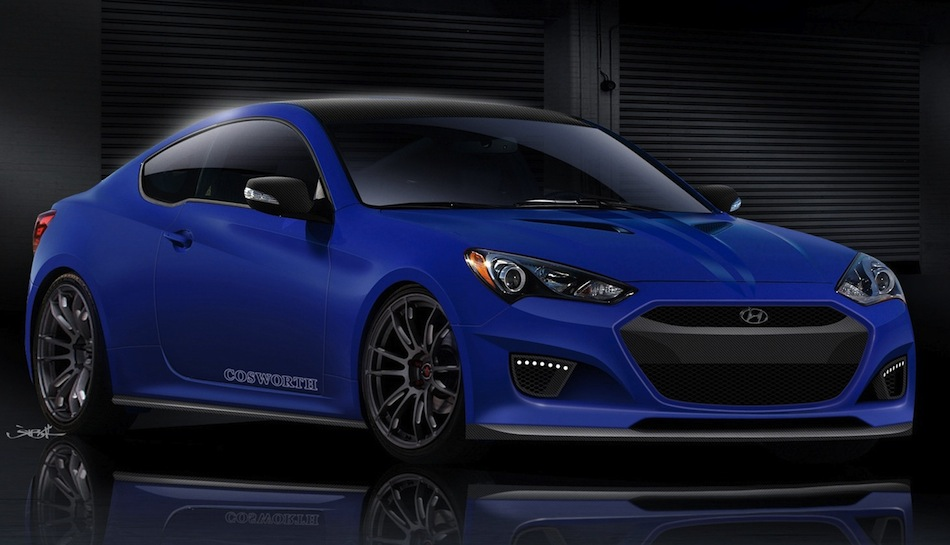 Cosworth Hyundai Genesis Coupe Front Sketch