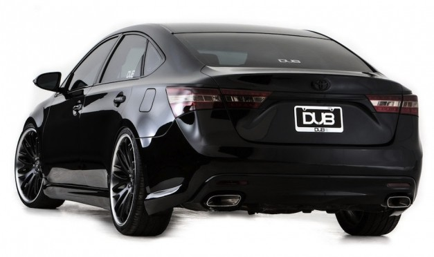 2013 DUB Magazine Toyota Avalon Rear 3/4 View