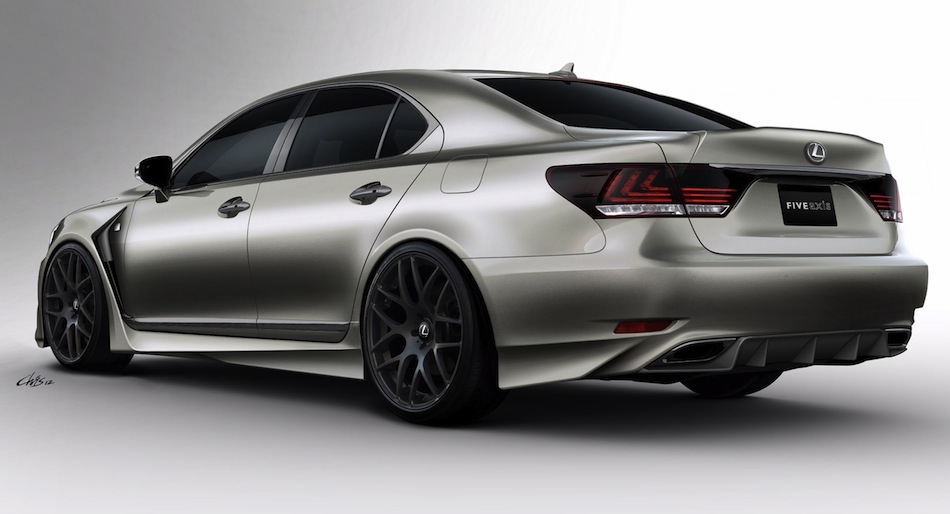 Five Axis Lexus LS F Sport Rear 7/8 View