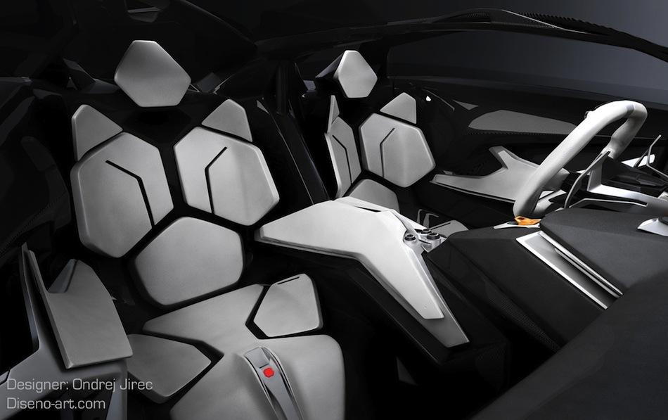 Lamborghini Perdigon Interior Lamborghini Perdigon Concept