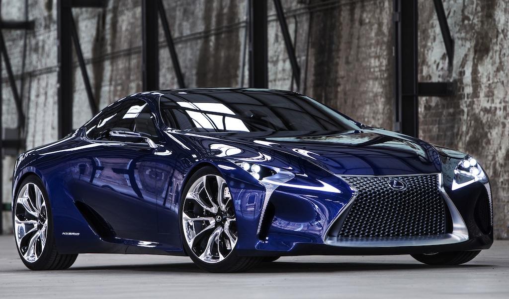 Lexus LF-LC Blue Concept Front 3/4 View