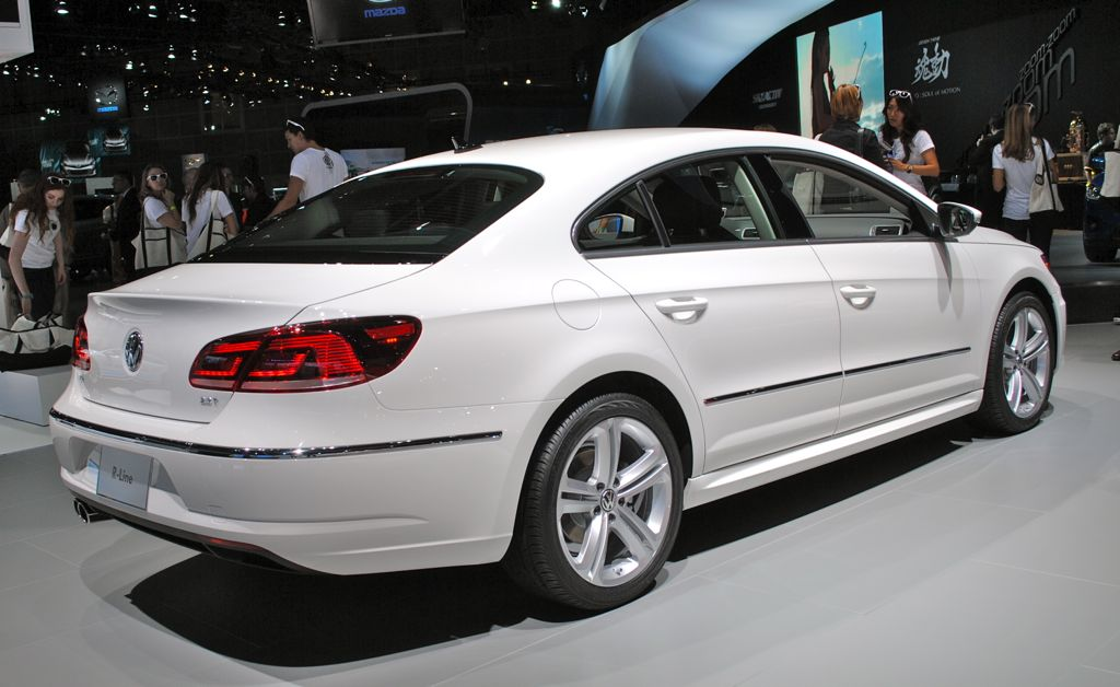 2012 la 2013 volkswagen cc r line rear 7 8 view egmcartech. Black Bedroom Furniture Sets. Home Design Ideas