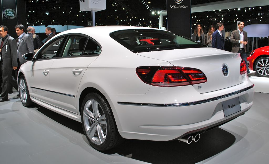 2012 la 2013 volkswagen cc r line rear quarter angle egmcartech. Black Bedroom Furniture Sets. Home Design Ideas