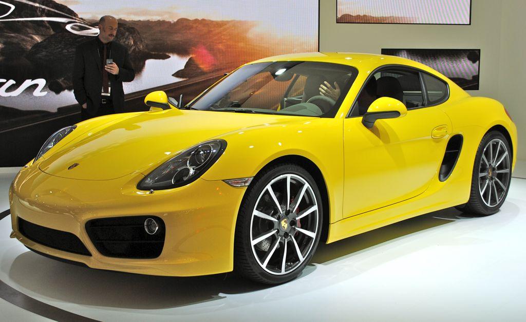 2012 LA: 2014 Porsche Cayman Front 7/8 View