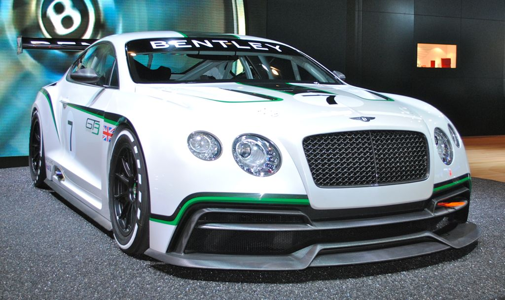 2012 LA: Bentley Continental GT3 Race Car concept Front 3/4 View
