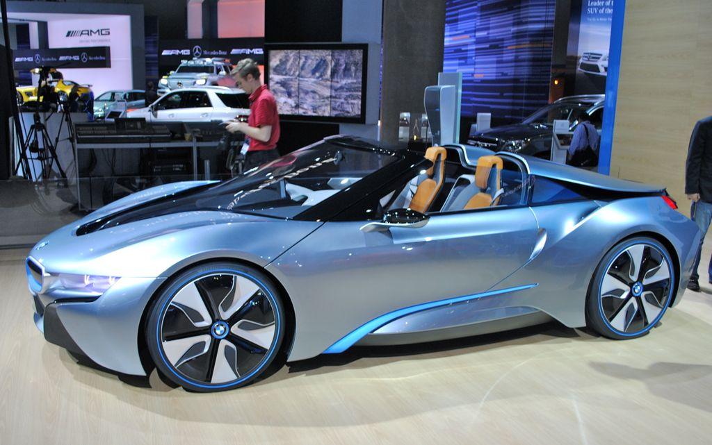 2012 LA BMW I8 Spyder Concept Front 7 8 View