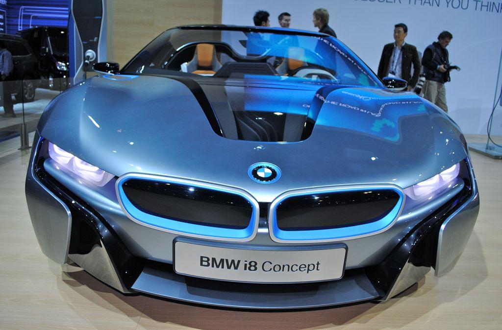 2012 LA: BMW i8 Spyder Concept Front View - egmCarTech