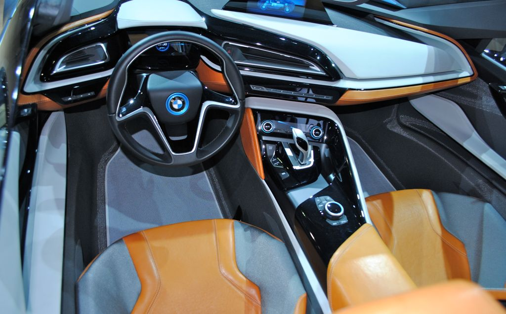2012 la bmw i8 spyder concept interior egmcartech for Bmw i8 interior