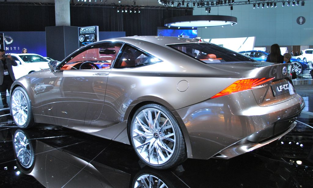 2012 LA: Lexus LF-CC Concept Rear 7/8 Angle - egmCarTech