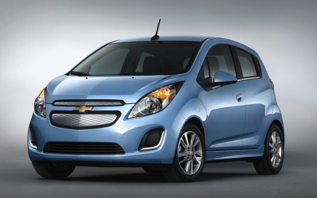 2014 Chevrolet Spark EV Official Front 3/4 View