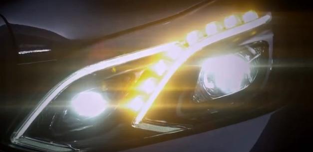 Video: 2014 Mercedes-Benz E-Class headlights teased