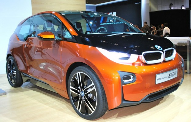 2012 LA: BMW i3 Coupe Concept with two doors, orange exterior