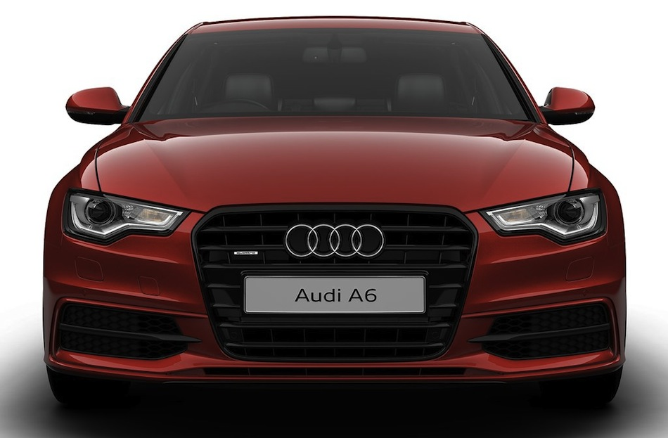 Audi A6 Black Edition Front View