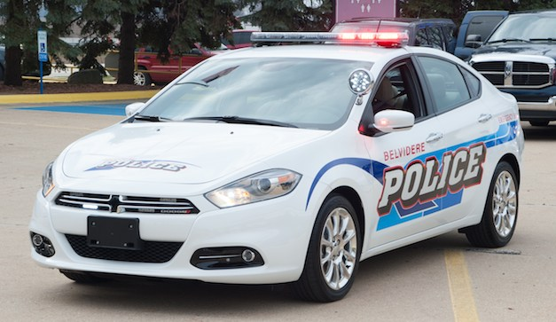Dodge Dart Police Car is for ceremonial purposes only