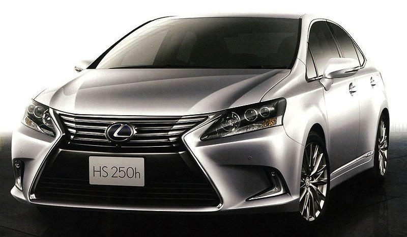 2013 Lexus HS 250h Front 3/4 View (Preview)