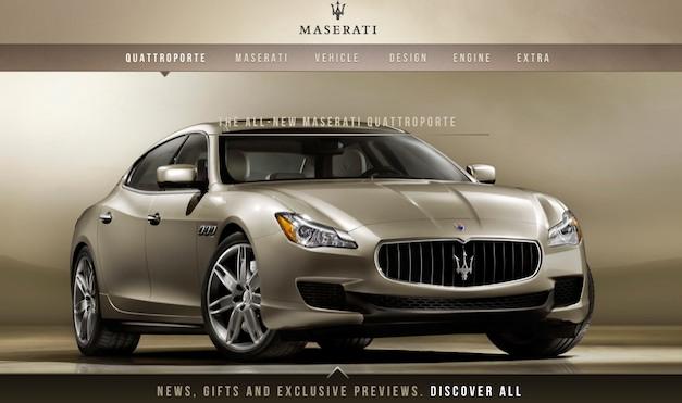 2014 Maserati Quattroporte website