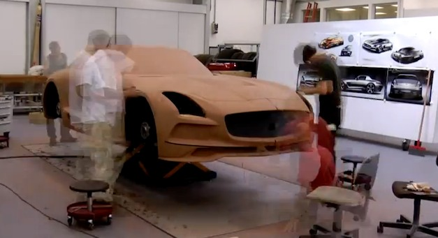 Video: Time lapse showing creation of Mercedes SLS AMG Black Series clay model
