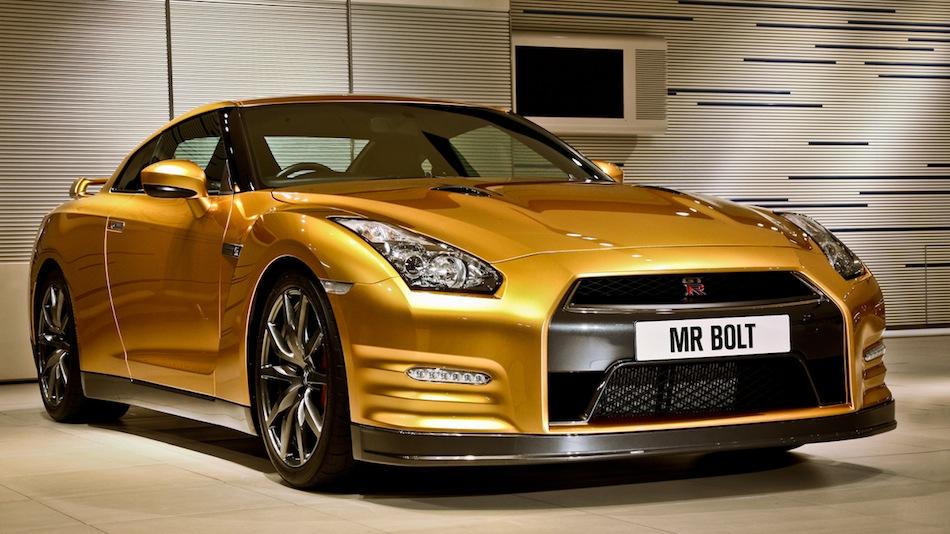 Bolt Gold Nissan GT-R Front 3/4