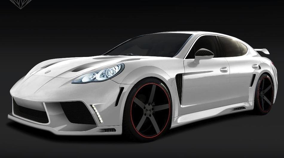 Porsche Panamera Onyx GST Edition Front 7/8 View