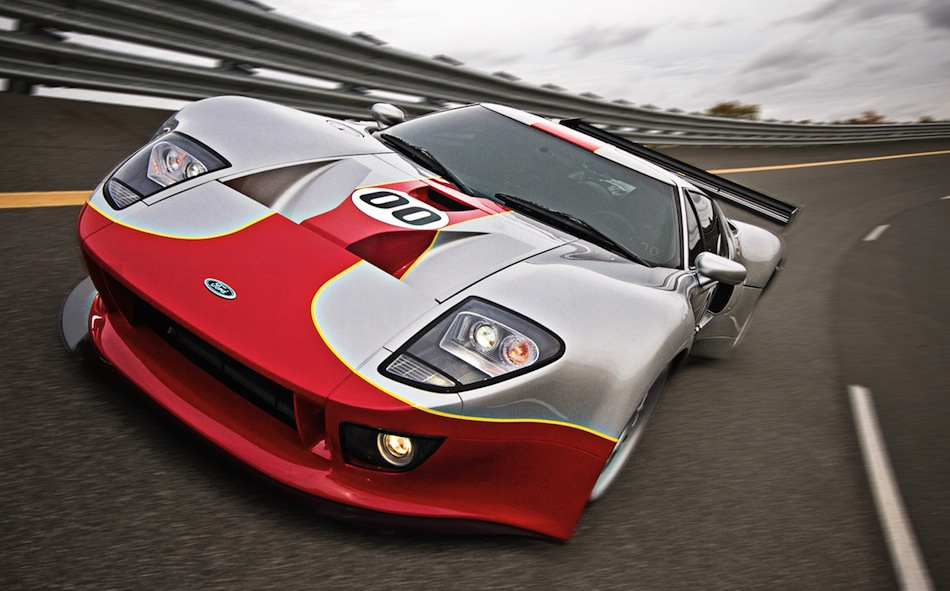 RH Motorsports Ford GT Race Front 3/4 Action View