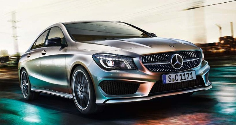 2014 Mercedes-Benz CLA Leak Front Action Shot
