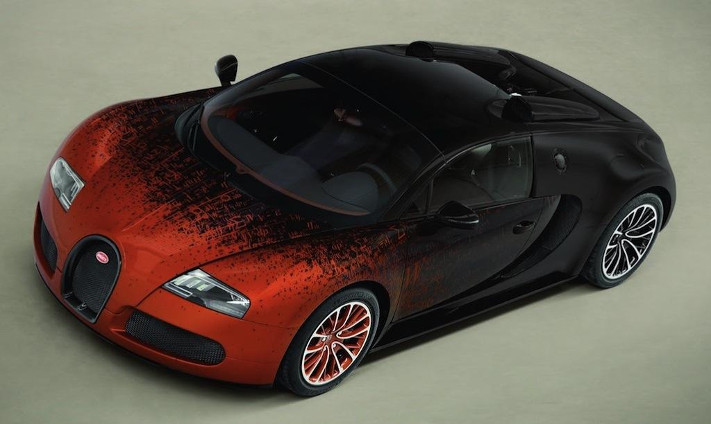 Bugatti Veyron Grand Sport Bernar Venet Front Top View