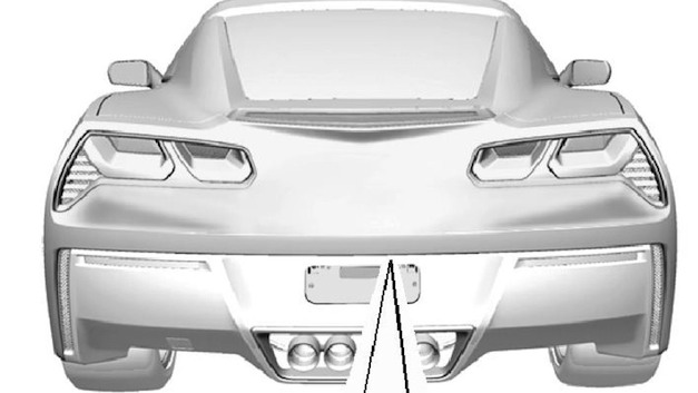 2014 Chevrolet Corvette C7 Rear Drawing