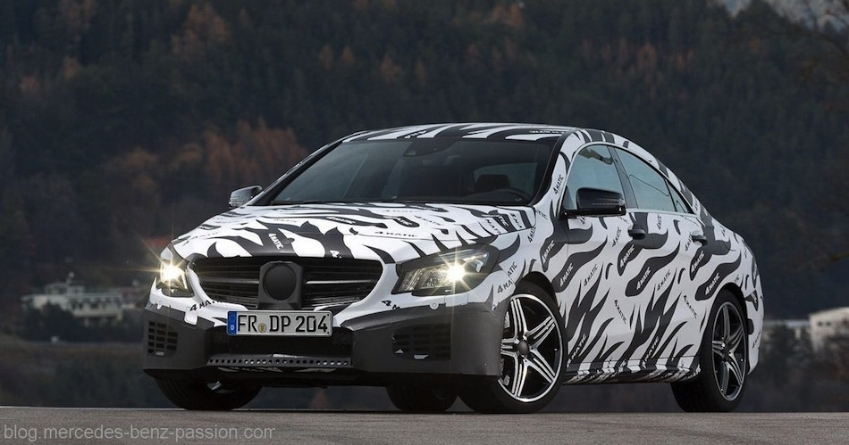 Spy Shot - Mercedes-Benz CLA Front 7/8 View