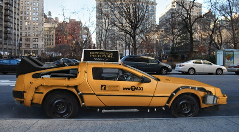 DeLorean DMC-12 NYC taxi cab concept Side View