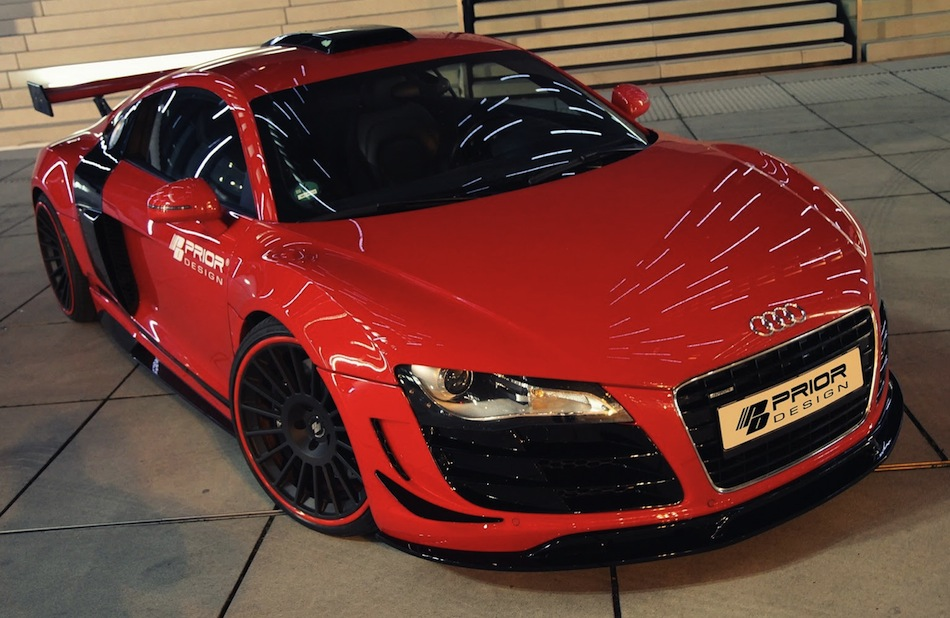 Prior Design Audi R8 Front Top 3/4 View