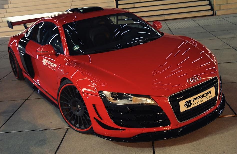 Prior Design Audi R8 Front Top 3/4 View