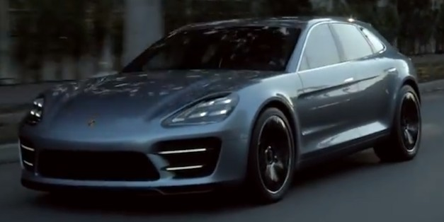 Video: Porsche Panamera Sport Turismo Concept in Action