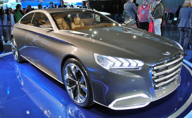 2013 Detroit: Hyundai HCD-14 Genesis Concept hints at brand's future premium vehicle design direction