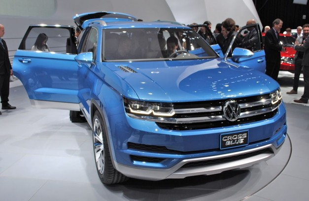 2013 Detroit: Volkswagen CrossBlue SUV Concept hints at new 6 seater SUV