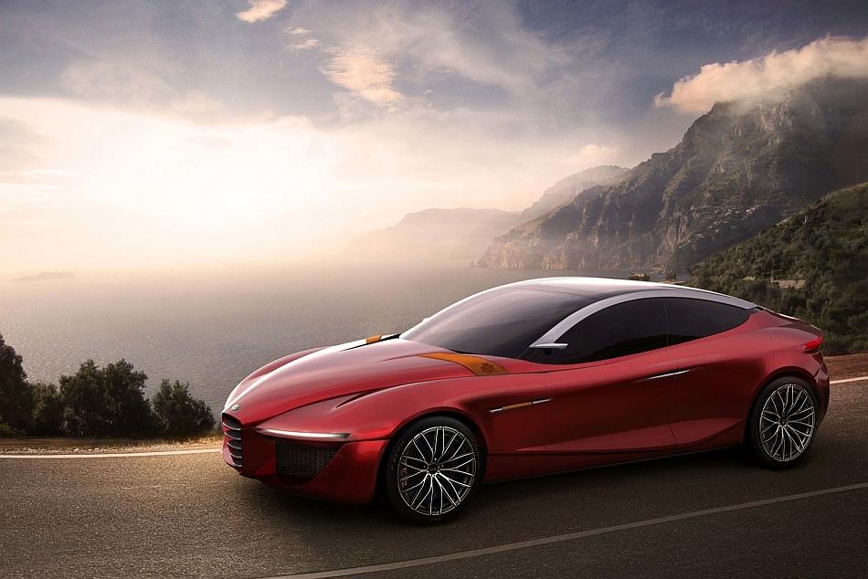 2013 Alfa Romeo Gloria Concept Front 7-8 Left