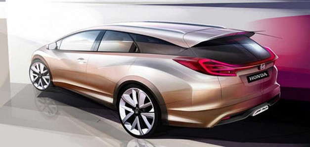 Honda teases new Civic wagon concept for Europe, Acura NSX Concept to appear at Geneva