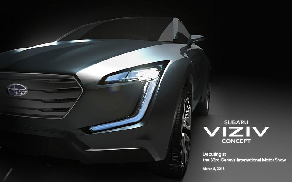 2013 Subaru Viziv Concept Geneva