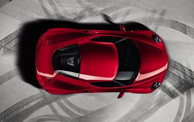 2014 Alfa Romeo 4C From Above